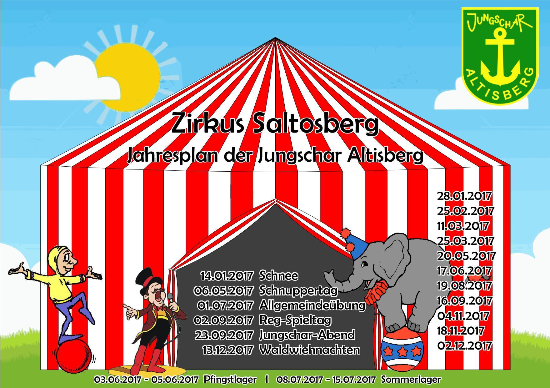 2017 Jahresplan Zirkus